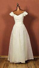 Genuine Vintage 50s Wedding Evening Ball Dress Gown Retro Sweetheart UK 6
