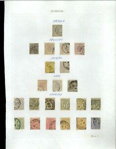 Luxembourg 1859-1891 Album Page Of Stamps #V20135