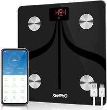 RENPHO Bluetooth Body Fat Scale USB Rechargeable Smart Digital Bathroom Weigh