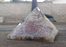 EXTRA LARGE (70-75mm) SUNSTONE ORGONE GEMSTONE X-LARGE PYRAMID ORGONITE