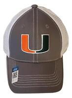Miami Hurricanes Adjustable Gray Mesh Snapback Cap NCAA Hat