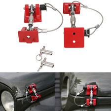 Vintage Pair Hood Latch Catch Locking Key Pin Kit Hold Down For Jeep Wrangler ya