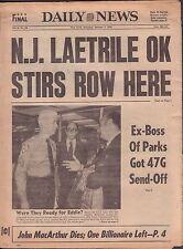 Daily News January 7 1978 N.J. Laetrile OK Stirs Row Here  010917DBE