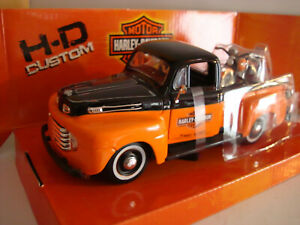 Harley Davidson 1948 Flh Fl Panhead - Ford F 1 - Pick Up 1:24 - Maisto