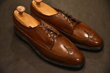 NOS DEADSTOCK FLORSHEIM IMPERIAL Scotch Grain Brown Wingtips Longwings 12C USA