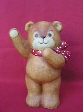 "Vintage Enesco Riggletts 1979 8 3/8"" Teddy Bear Bank"