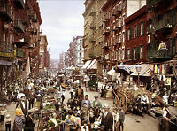 Mulberry Street-Little Italy-in Manhattan New York City-Quality 1900 Photo
