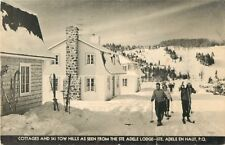 The Cottages, St Adele Lodge, Ski Tow, St Adele en Haut, PQ Quebec Canada 1945