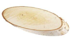Birkenholzscheiben oval