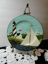 Salad Plate Warren Kimble Nautical Lighthouse Coastal Breeze 1998 Sakura 8 1/4