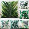 Plant Print Cotton Linen Pillow Case Sofa Office Cushion Cover Home Decor Leaf
