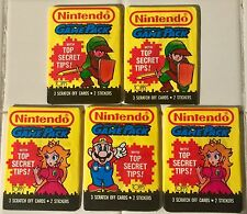 Lot of 5 NINTENDO GAME PACK TOPPS CARD STICKER 3 DIFFERENT WRAPPERS 1989 RARE!