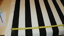 Black White Stripe Print Upholstery Fabric 1 Yard  R401