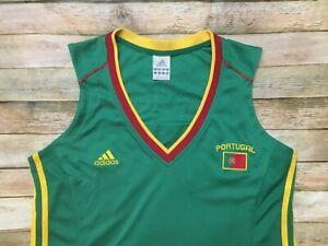 Adidas PORTUGAL Womens SOCCER Vtg 2004 Rare Sleeveless TRAINING Jersey Shirt XL