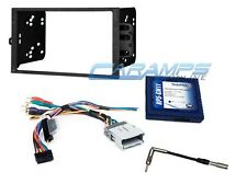 DOUBLE 2 DIN CAR STEREO RADIO DASH KIT WITH STEERING WHEEL CONTROLS INTERFACE
