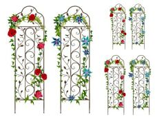 New ListingGarden Arched Trellis 2 Pc Set Steel Patio Plant Climbing Vines Yard Wall Fence