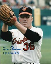 TOM PHOEBUS  BALTIMORE ORIOLES  1970 WS CHAMPS  ACTION SIGNED 8x10