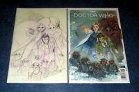 BBC DOCTOR WHO COMIC #1 PEACH MOMOKO A & G variant set VIRGIN sketch color TITAN