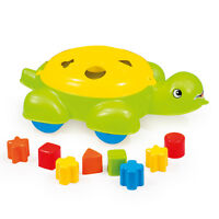 Turtle Shape Sorter Pull Push Along Baby Toddler Play Toy Set 12 Months+