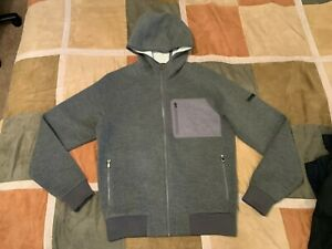 $695 Ermenegildo Z Zegna fleece zip hoodie stretch hooded sweatshirt M mens NEW