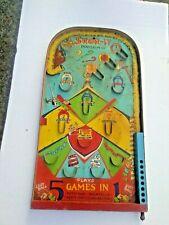 Vintage 1930's arcade style pinball/Bagatelle called SKOR-IT Poosh-m-up