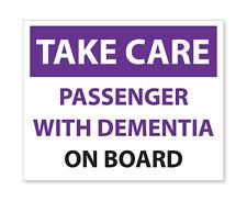 2 x prendre soin de voyageurs-Avec la démence, urgence/Sécurité Voiture Van autocollant decal