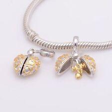 LOVE HEART MUM MOTHER Genuine S925 Sterling Silver Charm For European Bracelet