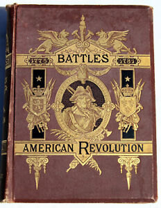 1876 –Battles of the American Revolution 1771-81– Carrington– Oversized EX+ Cond