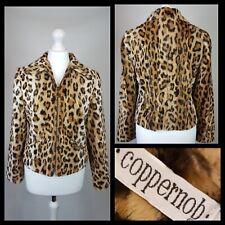 Coppernob Faux Fur Leopard Print Jacket Waist Length Size 12