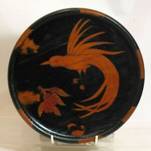 Pokerwork Plate, Phoenix Bird