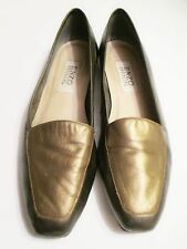 ENZO ANGIOLINI Womens Flats/Loafers (Sz 10 N) Gold/Bronze Leather Office/Work