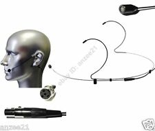 2x Black Dual Hook Headset Omi-directional Microphone for Shure Bodypack