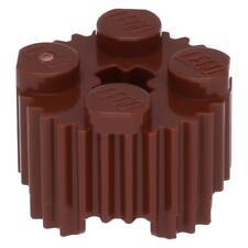 10x LEGO® Stein, Rund 2 x 2 mit Rillen Rotbraun