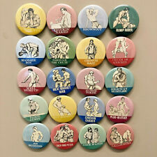 Lot20b GAY Magnets HIS69 Pulp Fiction Vintage Beefcake Muscle Leather Drawing