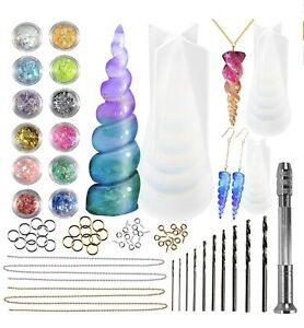 Unicorn Horn Resin Silicone Moulds Epoxy Casting Candle Soap Jewellery Making