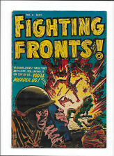 FIGHTING FRONTS #2 [1952 VG+] EXTREME VIOLENCE    FRIENDLY FIRE COVER!