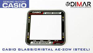 Vintage Glas Casio AE-20W (Stahl)