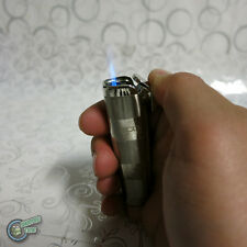 JET Lighter Cigar Burner Butane Gas Refillable Refill Cigarette Flame Silver 188