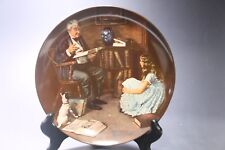 "Vintage Norman Rockwell's ""The Story Teller"" Collectors Plate Knowles Porcelain"