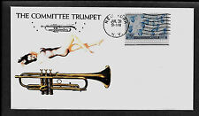 Vintage Martin Committee Trumpet & Pinup Girl Featured on Collector Envelope 481