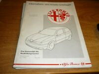 ALFA ROMEO 145 Werkstatthandbuch 1994 Original Alfa