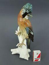Ens Volkstedt Vogel Figur, großer Eichelhäher, Höhe 31 cm