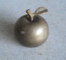 """Vintage Brass Apple Shaped Ringing Bell  2 5/8"""" Tall"""