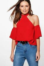 Boohoo High Neck Casual Tops & Shirts for Women