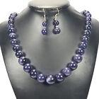 Azul Aventurina Plata De Ley Conjunto Collar Y Pendientes Joyería Artesanal UK