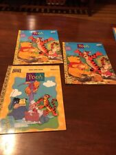 Vintage Pooh Trace & Comor Books & Paint With Water BFS1