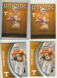 PEYTON MANNING RAINBOW LOT (4) 2016 TENNESSEE HONORS GOLD #'D /25+ SILVER + BASE