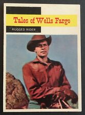 Vintage 1958 Topps TV WESTERNS card #60 RUGGED RIDER combined ship