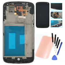 For LG Google Nexus4 E960 LCD Display Screen Touch Digitizer + Frame Assembly