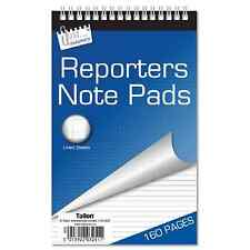 Reporters Notepad 160 Lined Pages Letter Paper Margin Spiral Bound Writing Book